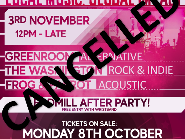 Oxjam Cancelled